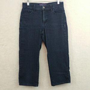 NYDJ Capri Pants Rhinestones Pockets Size 2